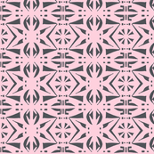 BELARUS PARTY PRINT Charcoal on Pink