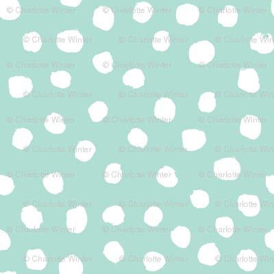 dots mint dot painted dots mint fabric mint dot fabric