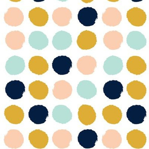 dots gold navy peach mint dots fabric dot fabric peach fabric