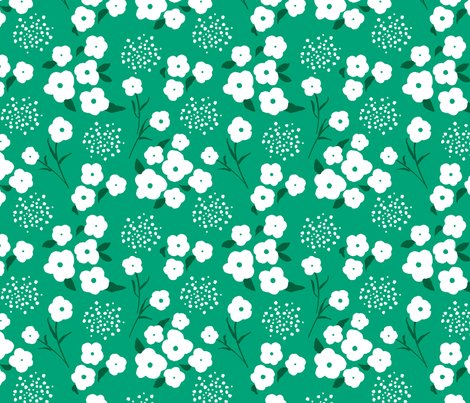 Gloucester Gate Green  fabric by amandacallcott on Spoonflower - custom fabric