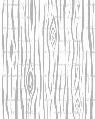 Woodgrain- small- grey/white - tree bark wood