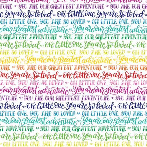 Our greatest adventure - Rainbow fabric by howjoyful on Spoonflower - custom fabric