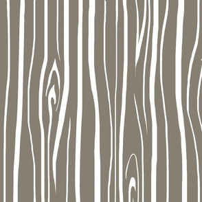 Woodgrain - Dark taupe - midnight woodland