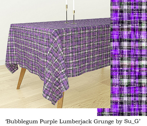 Bubblegum Purple Lumberjack Grunge by Su_G_©SuSchaefer