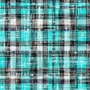 Turquoise Lumberjack Grunge by Su_G
