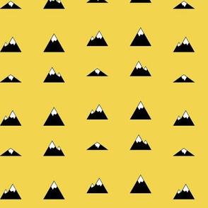 Mountains on Yellow