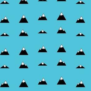 Mountains on Blue