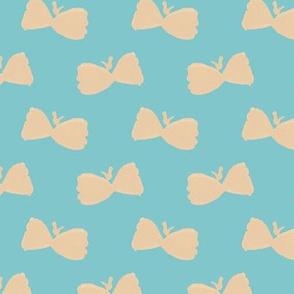 Bowtie Butterflies on #80c6cb