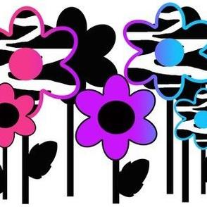 Rainbow Zebra Floral