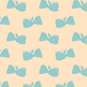 Bowtie Butterflies on #ffe4c4