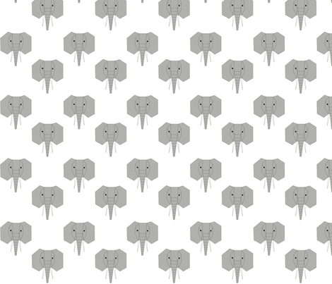 Geometric Elephants fabric by feathersflights on Spoonflower - custom fabric