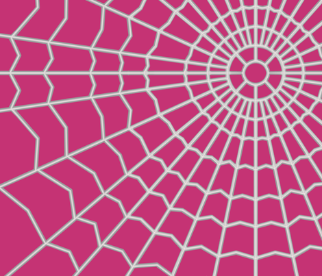 Spider_web__on_ Purple c53374 fabric by house_of_heasman on Spoonflower - custom fabric