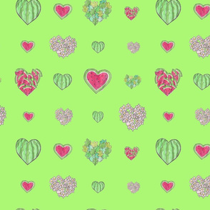 For the love of Watermelon green background