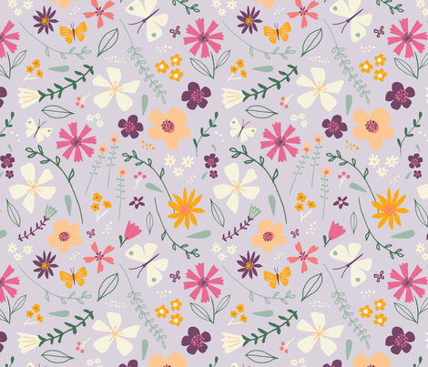 wildflowerfield fabric by shindigdesignstudio on Spoonflower - custom fabric