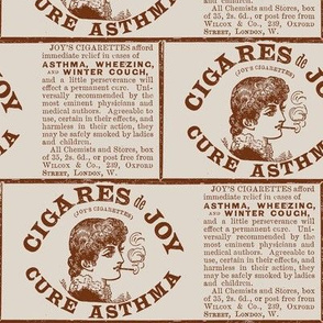 Smoking is Good For You 19th  century ad