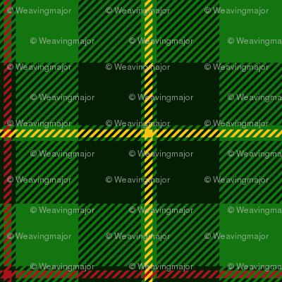 "Galloway hunting tartan - 3"" dark, yellow line"