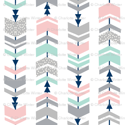 chevrons, chevron, pink and mint fabric cute girls fabric nursery baby fabric