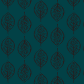 Oval Leaves in Navy