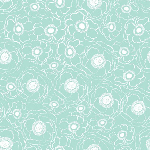 mint florals fabric girls baby nursery baby girl fabric mint florals fabric painted flowers