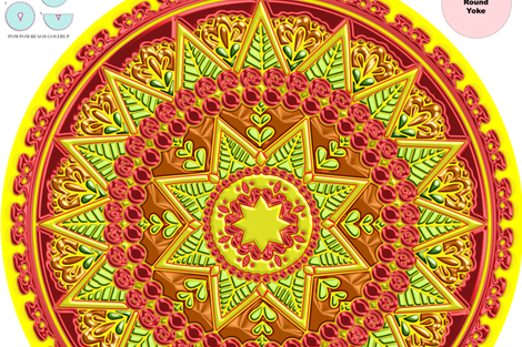 Sun Cover-up Poncho wallpaper - stradling_designs - Spoonflower