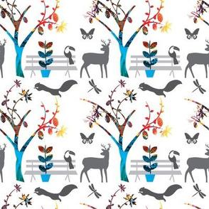 Animal Party Tree_white