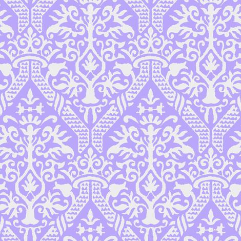 crowning damask stencil violet fabric by keweenawchris on Spoonflower - custom fabric