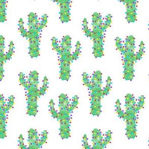Festive Linocut Cacti