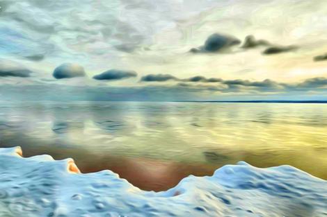 thin ice for fat quarter fabric by keweenawchris on Spoonflower - custom fabric