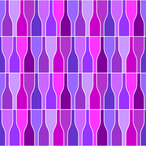 05687523 : ten violet bottles fabric by sef on Spoonflower - custom fabric