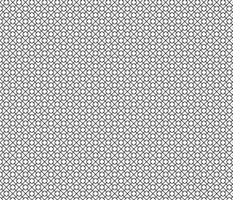 black + white lattice quatrefoil fabric by misstiina on Spoonflower - custom fabric