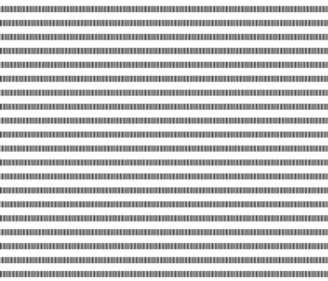 black + white tally dashes fabric by misstiina on Spoonflower - custom fabric