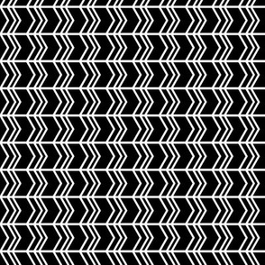 black + white chevron zigzags horizontal reversed