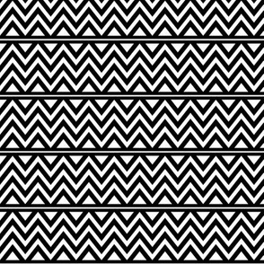 black + white chevron fun reversed