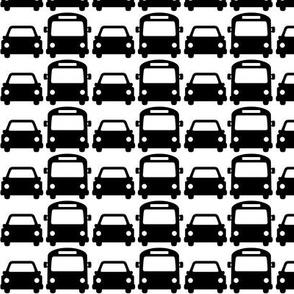cars & buses » black + white no.2