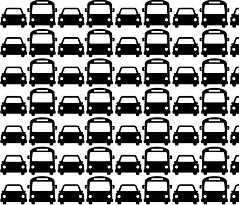 cars & buses LG » black + white no.2 fabric by misstiina on Spoonflower - custom fabric