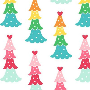 cute trees LG :: colorful christmas