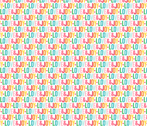 love joy :: colorful christmas fabric by misstiina on Spoonflower - custom fabric