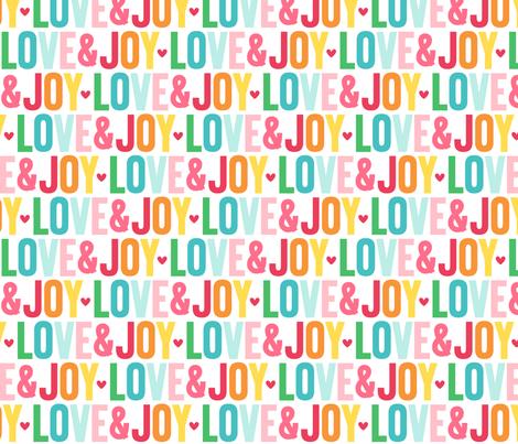 love joy LG :: colorful christmas fabric by misstiina on Spoonflower - custom fabric