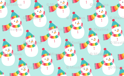 snowmen :: colorful christmas
