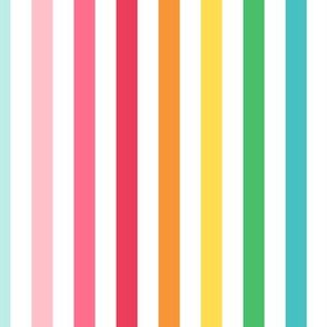 stripes LG horizontal :: colorful christmas
