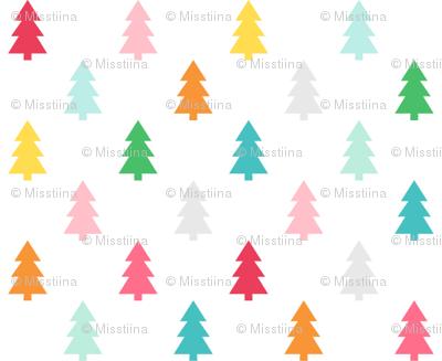 trees :: colorful christmas