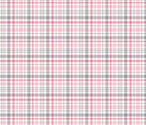 pink + grey plaid 2 LG fabric by misstiina on Spoonflower - custom fabric