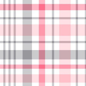 pink + grey plaid 2 XL