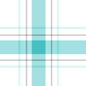 teal + grey plaid 1 XL