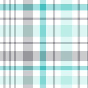 teal + grey plaid 2 XL
