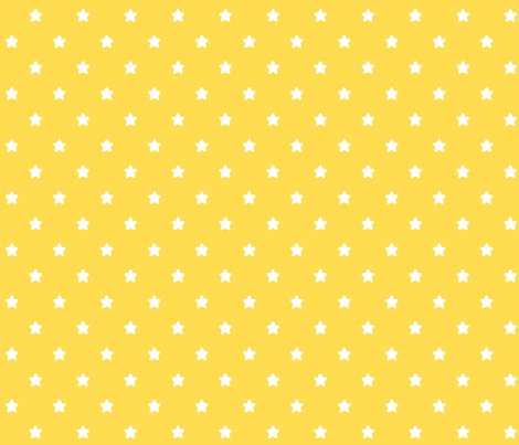 stars yellow LG fabric by misstiina on Spoonflower - custom fabric