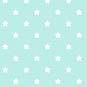 stars light teal LG