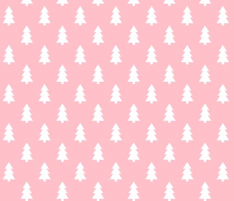 trees light pink LG fabric by misstiina on Spoonflower - custom fabric