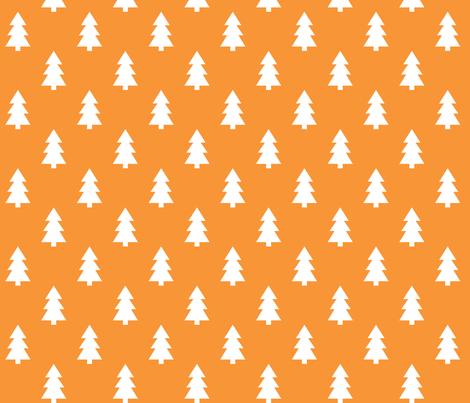 trees orange LG fabric by misstiina on Spoonflower - custom fabric