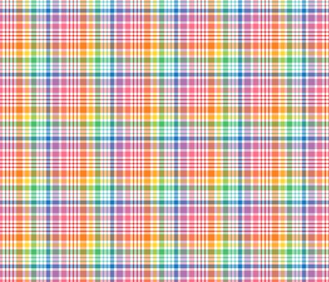 happy plaid no.1 fabric by misstiina on Spoonflower - custom fabric